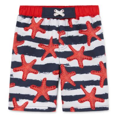 Boys Star Fish Swim Trunks-Toddler