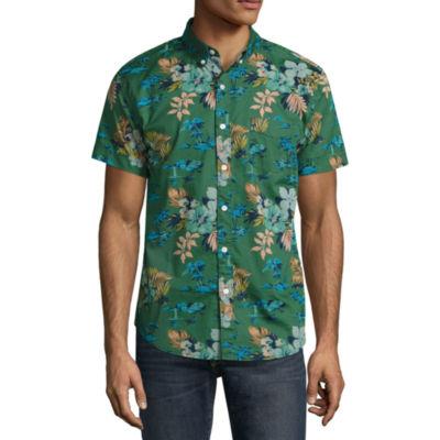 Arizona Short Sleeve Pattern Button-Front Shirt