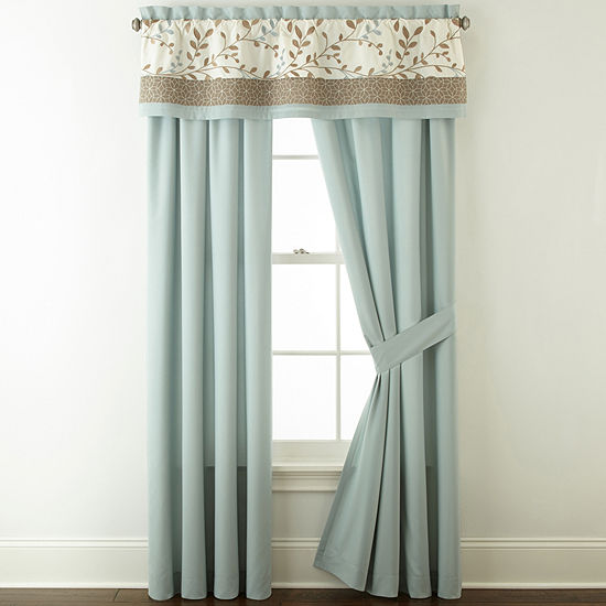 Home Expressions Hampton 2-Pack Rod-Pocket Curtain Panels