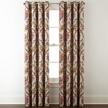 Jcpenney Home Aurora Damask Blackout Grommet Top Curtain Panel Jcpenney
