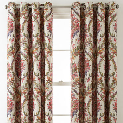 JCPenney Home Aurora Damask Blackout Grommet-Top Curtain Panel