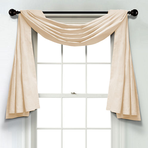 JCPenney Home Linen Unlined Scarf Valance