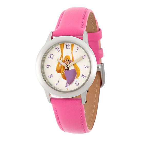 Disney Disney Princess Girls Pink Strap Watch-Wds000552