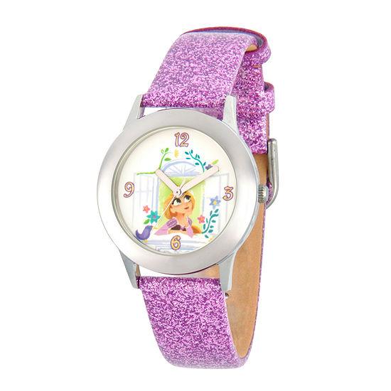 Disney Disney Princess Girls Purple Strap Watch-Wds000551