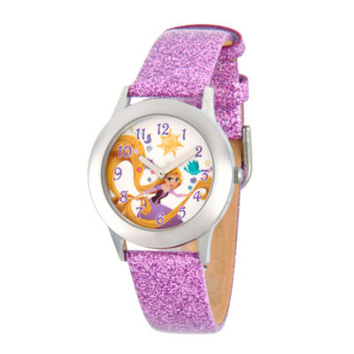 Disney Disney Princess Girls Purple Strap Watch-Wds000548