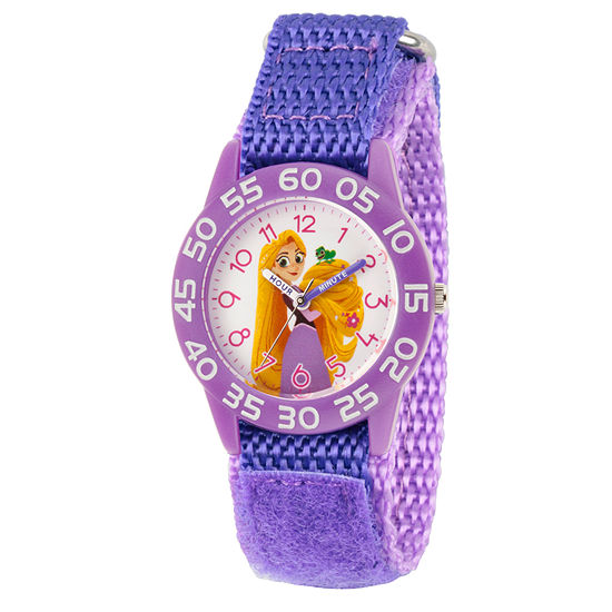 Disney Princess Girls Purple Strap Watch-Wds000545