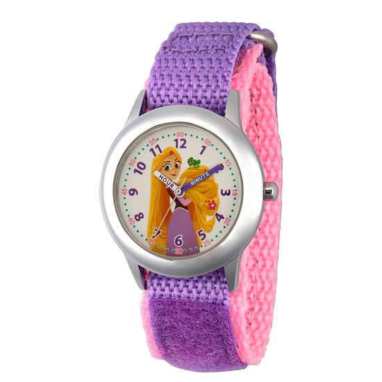 Disney Disney Princess Girls Purple Strap Watch-Wds000542