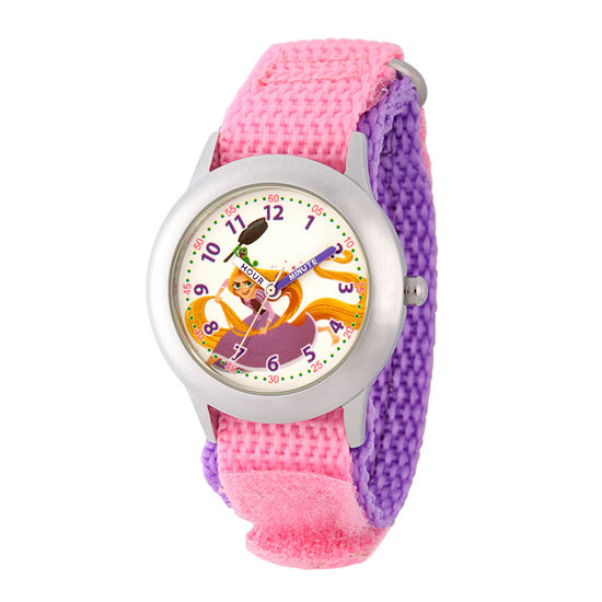 Disney Collection Disney Princess Girls Pink Strap Watch-Wds000541