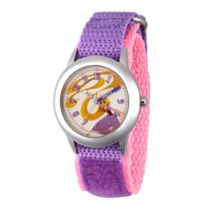 Disney Disney Princess Girls Purple Strap Watch-Wds000540