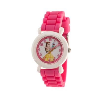 Disney Disney Princess Girls Pink Strap Watch-Wds000526