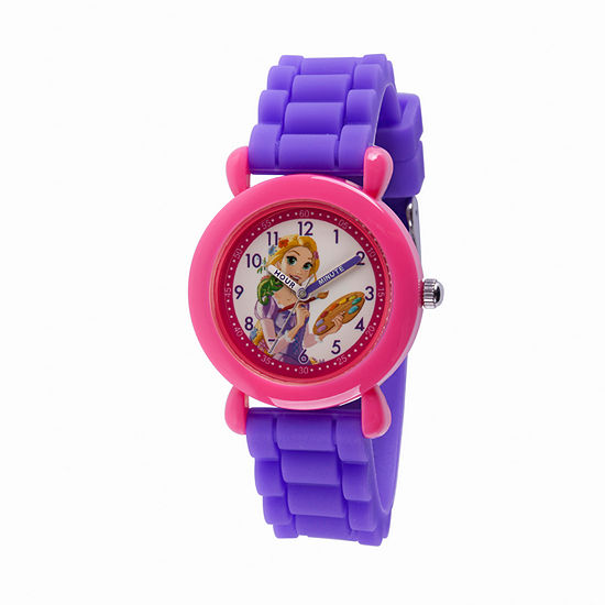 Disney Princess Girls Purple Strap Watch-Wds000525