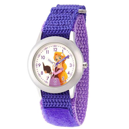 Disney Princess Girls Purple Strap Watch-Wds000543