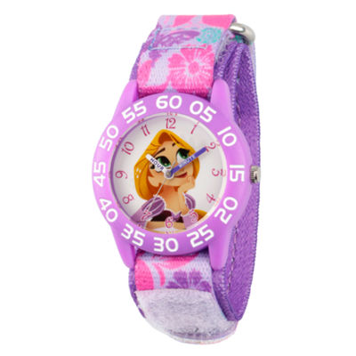 Disney Disney Princess Girls Purple Strap Watch-Wds000547