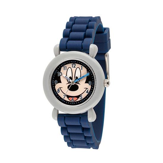 Disney Mickey Mouse Boys Blue Strap Watch-Wds000522
