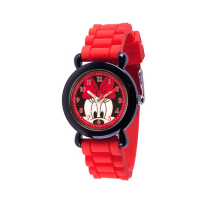 Disney Mickey Mouse Boys Red Strap Watch-Wds000521