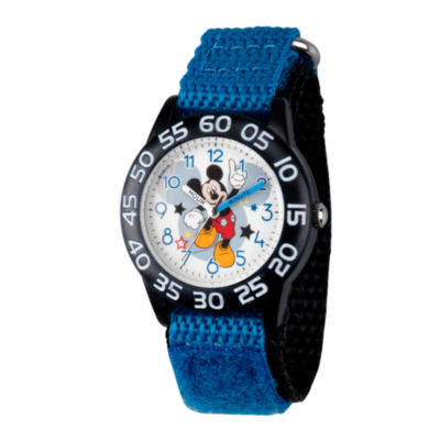 Disney Mickey Mouse Boys Black Strap Watch-Wds000519