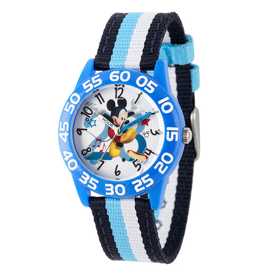 Disney Mickey Mouse Boys Blue Strap Watch-Wds000518