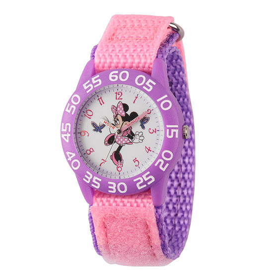 Minnie Mouse Girls Pink Strap Watch-Wds000499