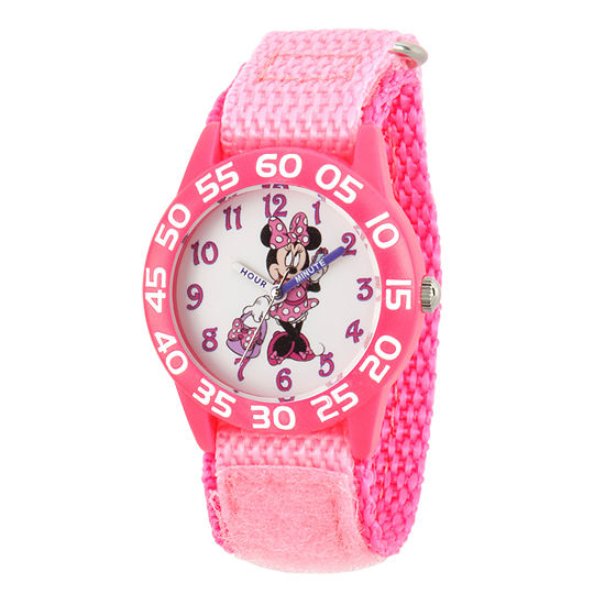 Disney Collection Minnie Mouse Girls Pink Strap Watch-Wds000501