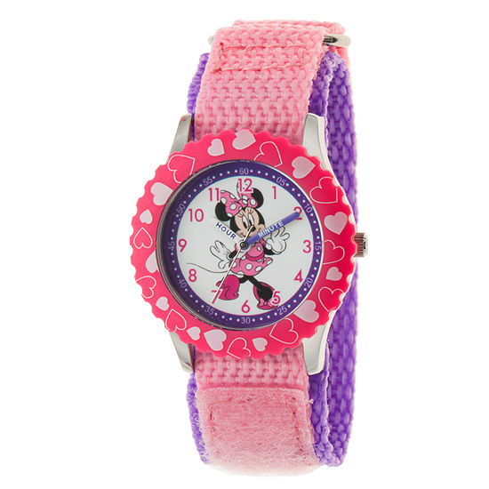 Minnie Mouse Girls Pink Strap Watch-Wds000502