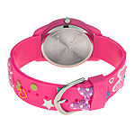 Disney Collection Minnie Mouse Girls Pink Strap Watch-Wds000506