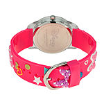 Disney Minnie Mouse Girls Pink Strap Watch-Wds000507