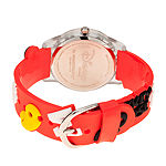 Disney Mickey Mouse Boys Red Strap Watch-Wds000513