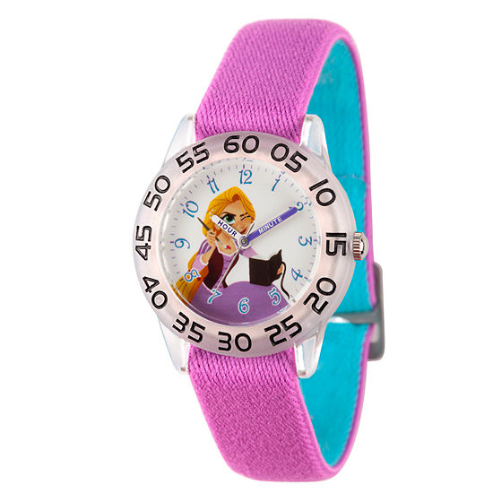 Disney Princess Girls Purple Strap Watch-Wds000546
