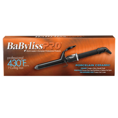 "BaByliss Porcelain Ceramic 1"" Spring 1 Inch Curling Iron"