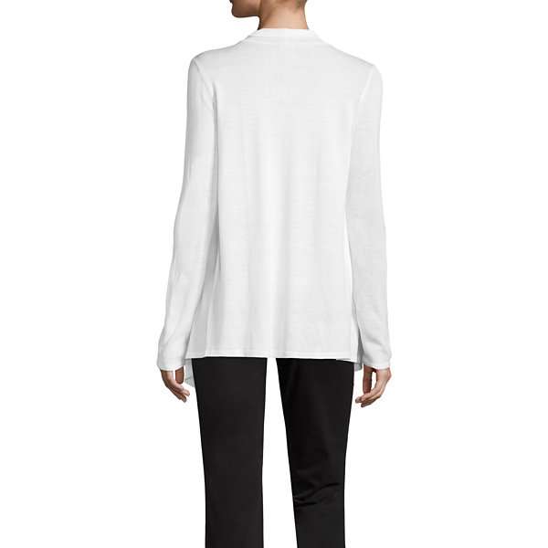 Liz Claiborne Placed Pointelle Sweater - Tall