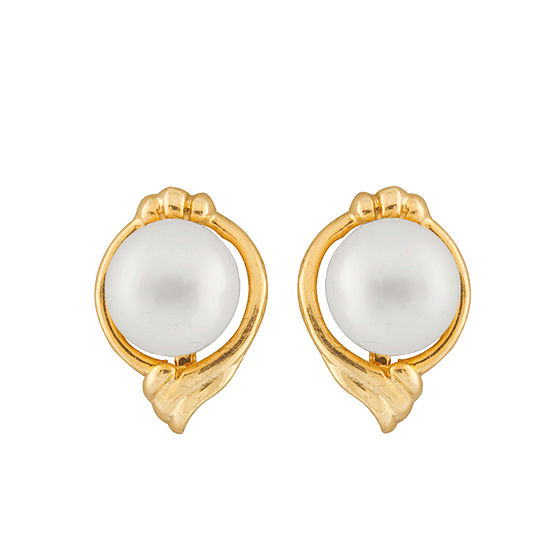 Splendid Pearls Cultured Freshwater 14K Gold 12mm Stud Earrings