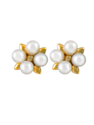 Splendid Pearls Cultured Freshwater Pearl 14K Gold 10mm Stud Earrings