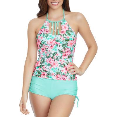 Arizona Floral Tankini Swimsuit Top-Juniors
