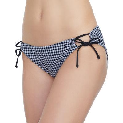Arizona Gingham Hipster Swimsuit Bottom-Juniors