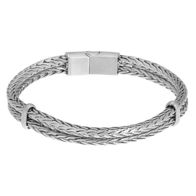 Stainless Steel 8 1/2 Inch Wheat Chain Bracelet