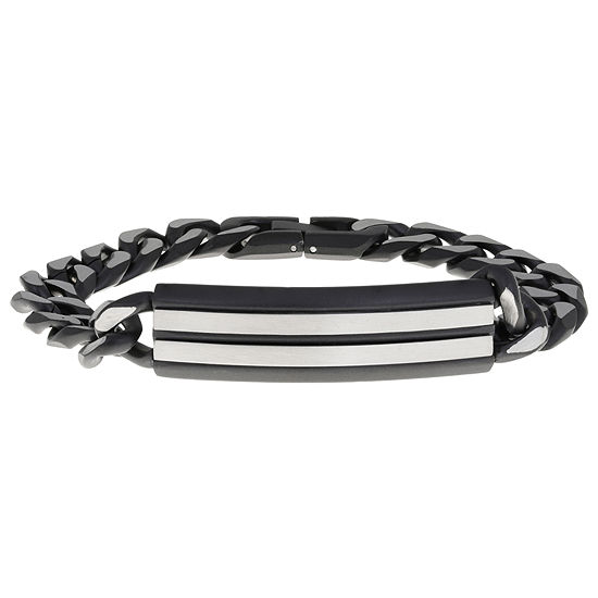 Stainless Steel 8 1/2 Inch Solid Curb Id Bracelet