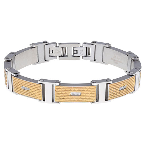 Stainless Steel 8 1/2 Inch Solid Link Round Link Bracelet