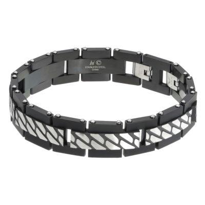 Mens 8 1/2 Inch Stainless Steel Link Bracelet