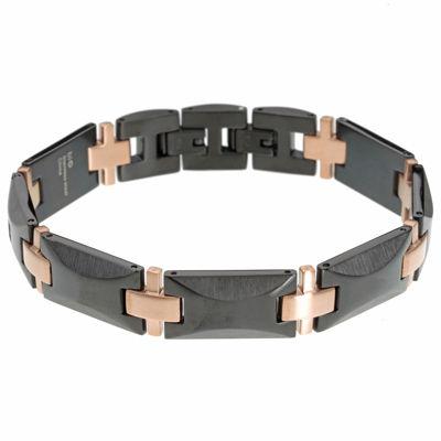 Stainless Steel 8 1/2 Inch Solid Link Link Bracelet
