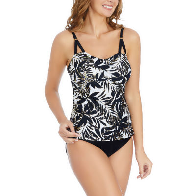 St. John's Bay Leaf Tankini Swimsuit Top