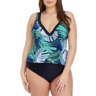 St. John's Bay Tankini Swimsuit Top-Plus