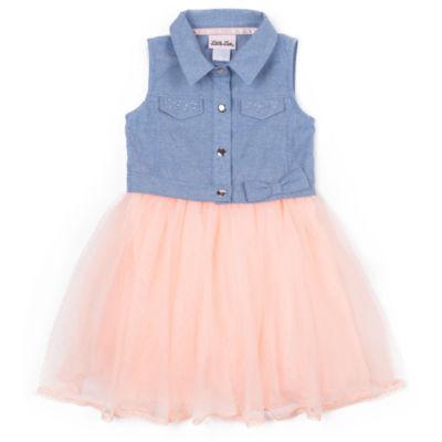 Little Lass Sleeveless Sundress - Toddler Girls