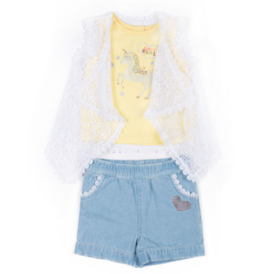 Little Lass 2-pack Short Set Toddler Girls