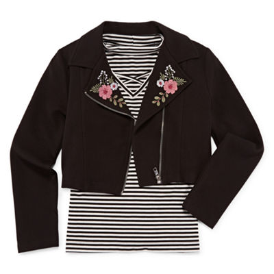 Arizona Graphic Top With Long Sleeve Jacket - Girls' 4-16 & Plus