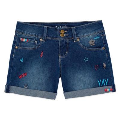 Ymi Midi Shorts-Big Kid Girls