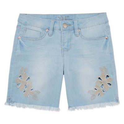 Ymi Denim Bermuda Shorts - Big Kid Girls