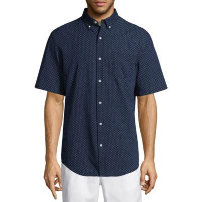 St. John's Bay Short Sleeve Fashion Button-Front Shirt