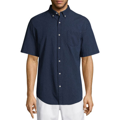 St. John's Bay Short Sleeve Fashion Button-Front Shirt