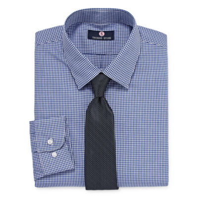 Thomas Stone Thomas Stone Shirt And Tie Set Mens Point Collar Long Sleeve Shirt + Tie Set