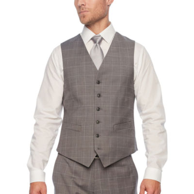 Stafford Grid Classic Fit Suit Vest